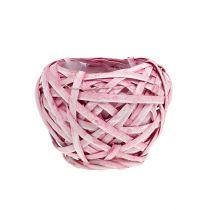 Frietmand rond Ø15cm H14cm roze