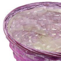 Spaanplaat rond paars / wit / roze Ø19cm 8st