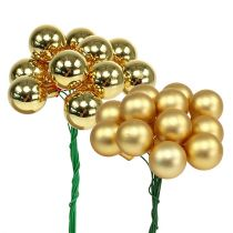 Mini kerstballen 20mm Gold Mix 140St_nl