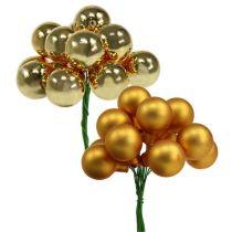 Mini kerstballen Gold Mix 25mm 140st