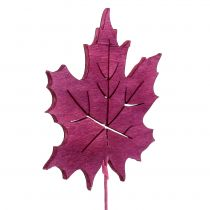 Decoratief plugblad roze, groen, Bordeaux 8cm 18st