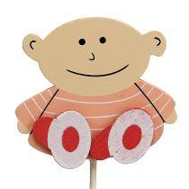 Baby plug 5cm L25cm Roze 20st