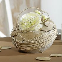 Steekschuim bal bloemenbal grijs Ø12cm 6st