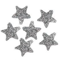 Ster glitter 1,5cm om zilver 144st te strooien