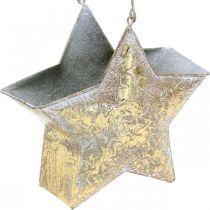 Decoratief ster metaal om op te hangen en te decoreren Goud Ø13cm