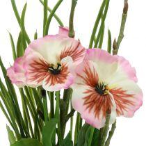 Viooltje met mosbalen roze 31cm