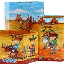 Penhouderset met cowboymotief H 6-12cm