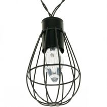 LED lichtslinger op zonne-energie tuindecoratie zwart 350cm 8LED