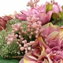 Boeket dahlia's, Protea 25cm