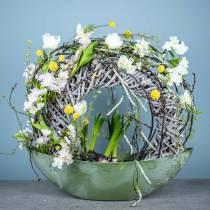 Kunstboeket met hyacinten en tulpen 34cm