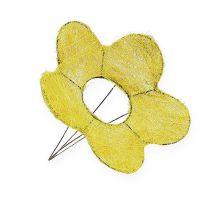 Sisal manchet geel Ø20cm bloem manchet 8st