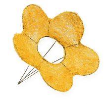 Sisal bloemmanchet geel Ø25cm 6st