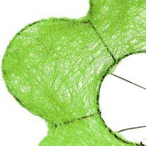 Sisal boeket manchet groen Ø15cm 10st