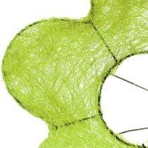 Sisal manchet bloem groen Ø25cm 6st