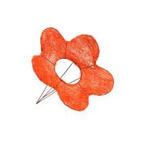 Sisal bloemmanchetten oranje Ø15cm 10st