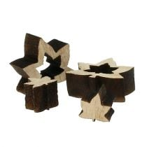Verspreidingsdecoratie houten bladeren 1cm - 2cm naturel 192p