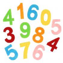 Scatter decoratienummers gemaakt van vilt assorti 3cm 150p