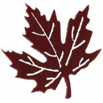 Verspreide herfstbladeren vilt bordeaux / creme / groen 72st