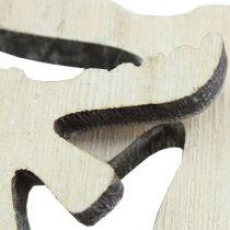 decoratie om te strooien Holzelch wit gewassen 30st