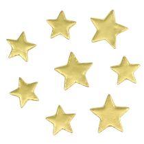 Verspreide sterren mix 4-5cm goud mat 72st