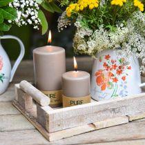Pure stompkaars bruin 90/60 natuurlijke wax kaars duurzame stearine koolzaad kaars decoratieese