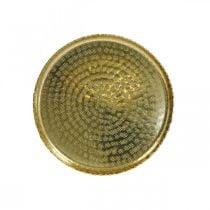 Oriënt-optisch dienblad, gouden decoratieve plaat, metalen decoratie Ø18.5cm