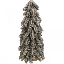 Dennenappels, kerstversiering, besneeuwde winterspar, gewassen wit H40cm Ø18cm