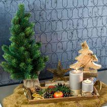 Kerstboom in jute zak 47cm