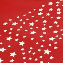 Draagtas rood met sterren 38cm x 46cm 24st