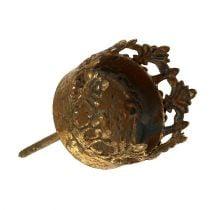 Waxinelichthouder goud antiek Ø3,8cm H9,5cm 1st