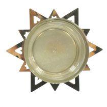 Waxinelichthouder ster goud 23.5cm 4st