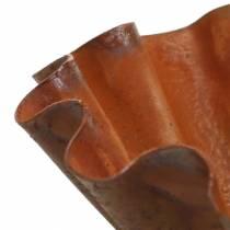 Decoratieve schaal, bakvorm-look, roestvrijstalen rooster Ø12,5cm H4cm