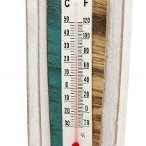 Thermometer in houten bootvorm om op te hangen 46cm 1stuk