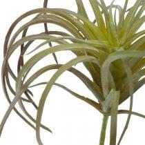 Tillandsia kunstplant om op te plakken Groen-paarse kunstplant 13cm