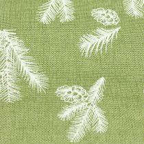 Tafellint met sparpatroon groen 20cm 5m