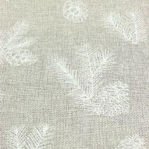 Tafellint met dennenmotief grijs 20cm 5m