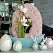 Ei roze parelmoer 15cm 1p