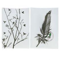 Tafeldecoratie plastic zak met motief 10x8x15cm 8st