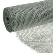 Tafelloper jute tape grijs 30cm 10m