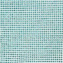 Tafelloper met pailletten turquoise B25cm L228cm