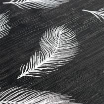 Tafelloper met verenpatroon 30 x 500 cm