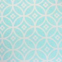 Tafelloper met patroon lichtblauw 30cm x 300cm