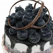 Decoratieve cupcake bosbessenvoedselreplica 7cm