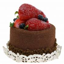 Deco taartje chocolade dummy 7 cm