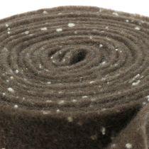 Pot tape vilt tape bruin met stippen 15cm x 5m