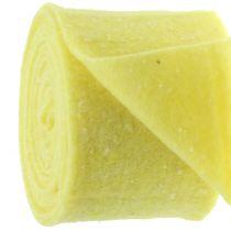 Pot tape vilt tape geel met stippen 15cm x 5m