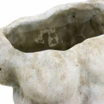 Bloempot torso mannelijk grijs 19 × 13.5cm H28cm