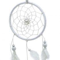 Dromenvanger met veren wit 50cm 2st