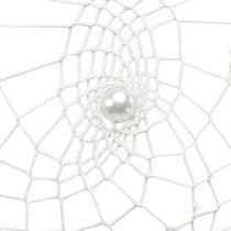 Dromenvanger hart wit 55cm 2st