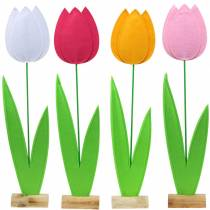 Vilten bloementulp Verschillende kleuren H88cm